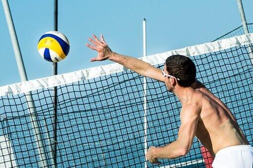 Beach Volleyball Net and ball