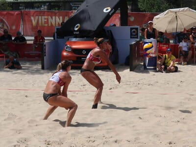 What is the typical beach volleyball apparel?