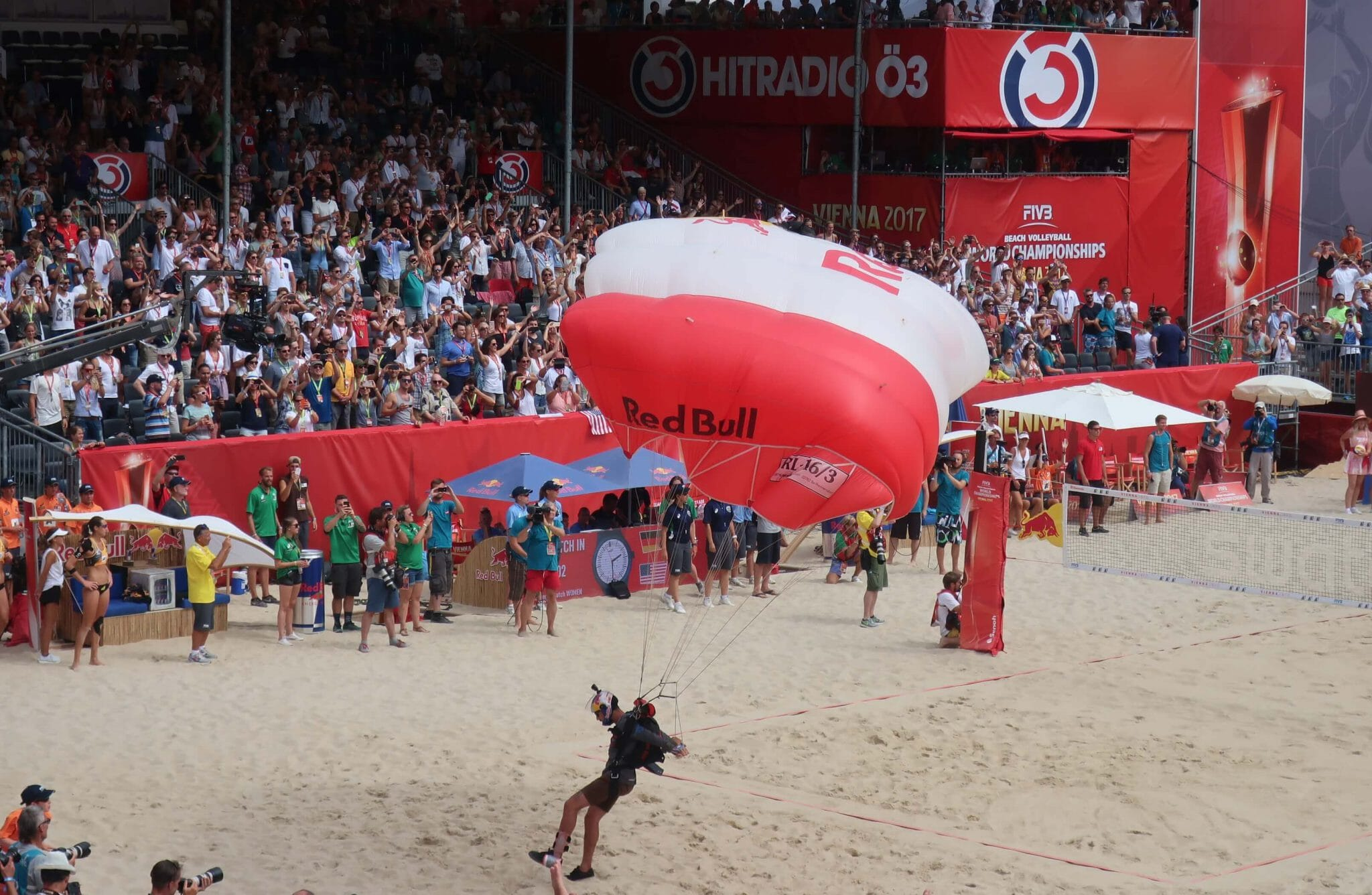 Sponsor attention at FIVB beach volleyball world championships