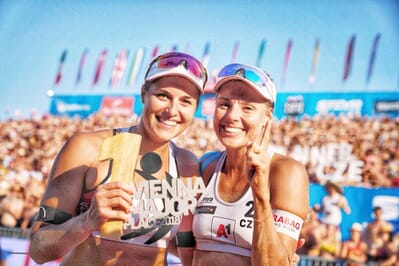 Czech beach girls win their first Major gold after rough start in the final