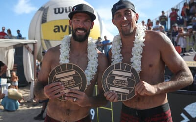 Indoor Olympian Reid Priddy & Trevor Crabb win AVP Manhattan Beach