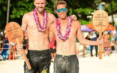 Gibb/Crabb also take AVP Hawaii defying match point to qualifiers Brunner/Hyden